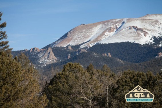 Pikes Peak, view from the site. Mueller S.P., CO.