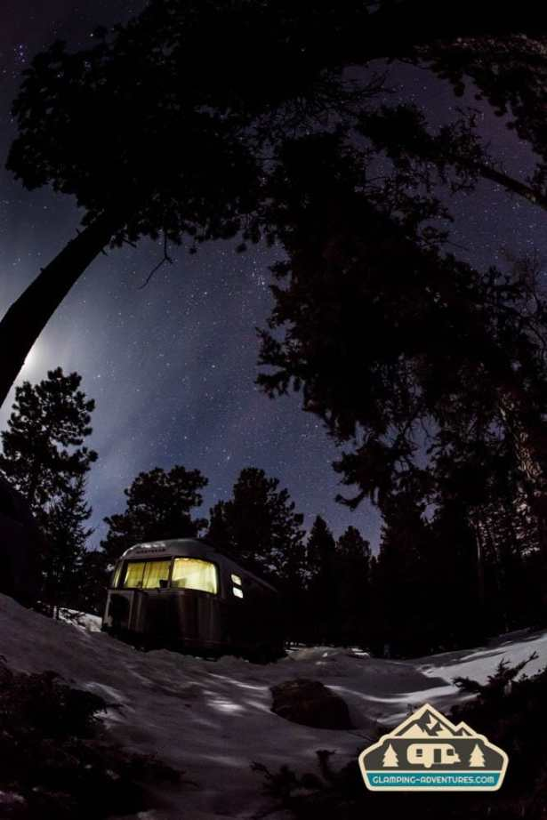 Moonlight over our camp. Mueller S.P., CO.