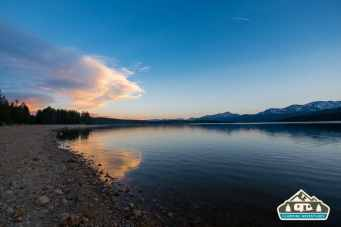 The day has ended. Turquoise Lake, Leadville, CO.
