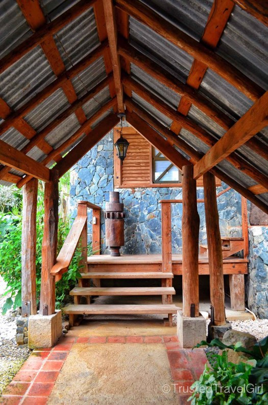 glamping porch stairs by trusted travel girl