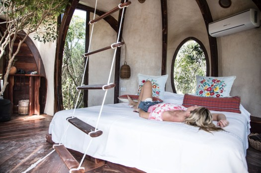Glamping review of the treehouse at Papaya Playa in Mexico by Kristen Kellogg 7090