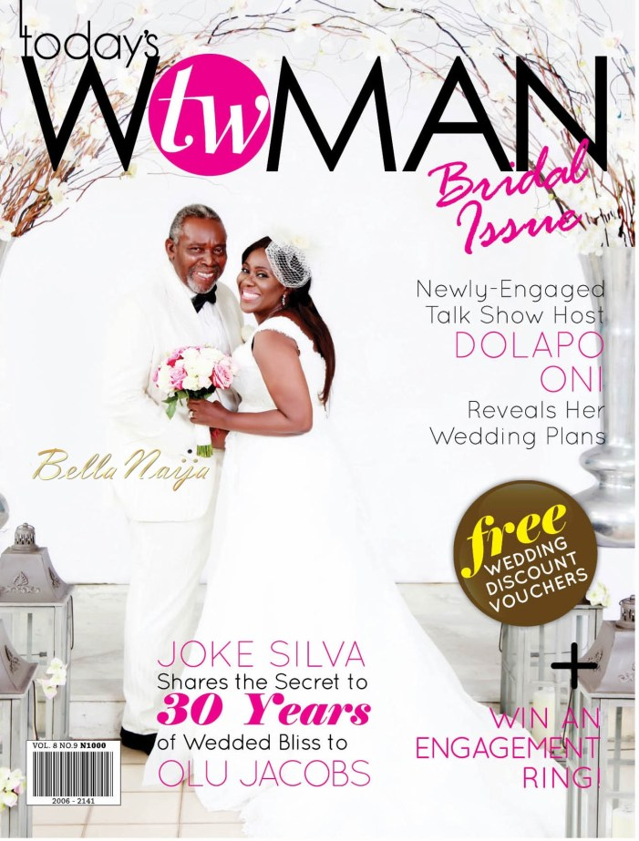 Joke Silva and hubby, Olu Jacobs Cover July 'Bridal' Issue of TW Magazine