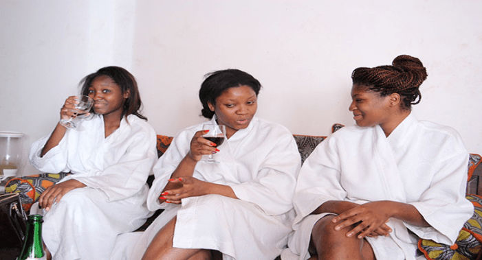 Photo: Actress Omotola And Daughters Enjoy A Spa Day Out