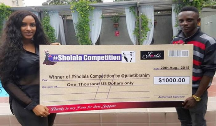 Star actress Juliet Ibrahim Gives Away $1000 To #Sholala Competition Winner