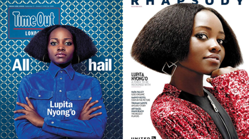 A Tale of Two Covers! Lupita Nyong'o Rocks Her Angled, Textured Bob for New 'Time Out: London' Cover
