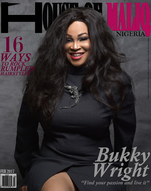 Bukky Wright Covers HOUSE OF MALIQ March edition 2017