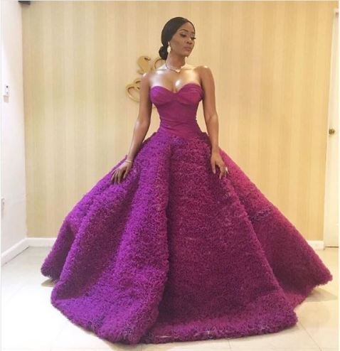 Toni Tones' outfit to AMVCA 2017