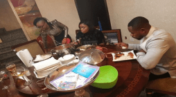 Marvis, Bisola And Kemen Visit Marvis' Boss In Port-Harcourt