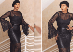 Gorgeous! Tiwa Savage Rocks Iro And Buba To 'Black Panther' Movie Screening