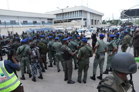 Edo Election: Armed Policemen And Soldiers Take Over INEC Office