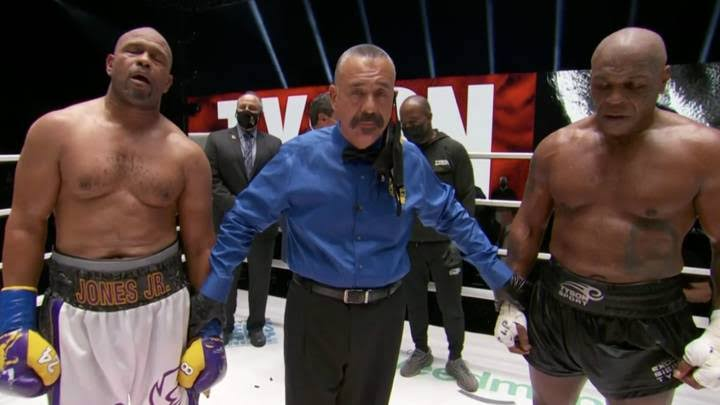 Tyson's Comeback Fight Against Roy Jones Ends In Draw