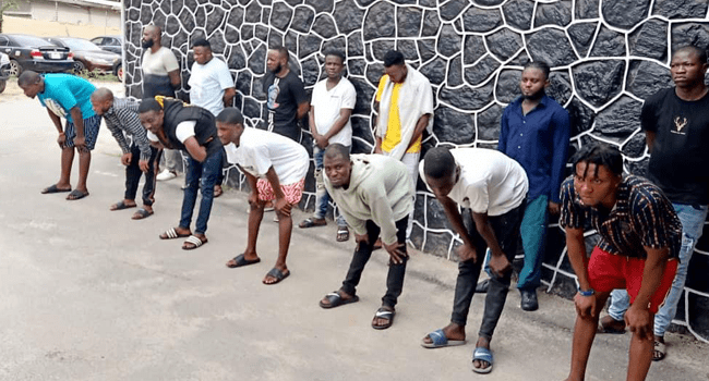 EFCC Arrests 14 Suspected Internet Fraudsters In Lagos