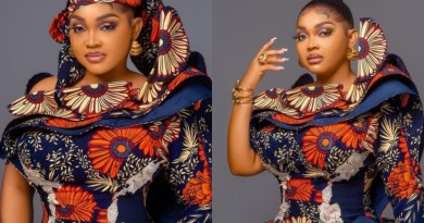 Mercy Aigbe Stuns In Lovely Ankara Outfit
