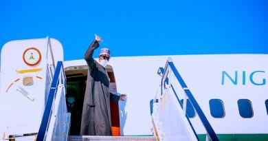 Buhari Departs New York