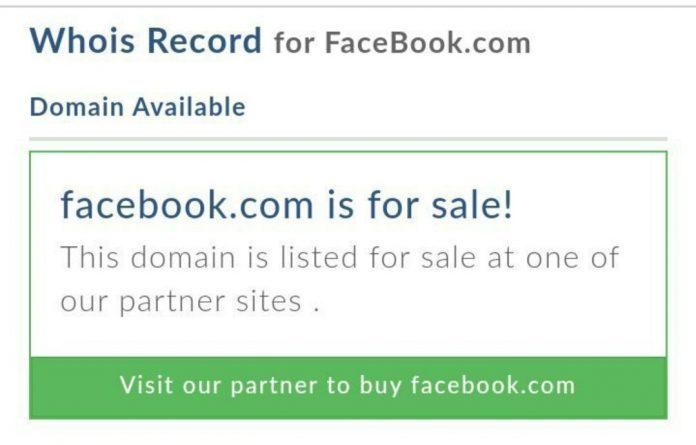 Facebook For Sale