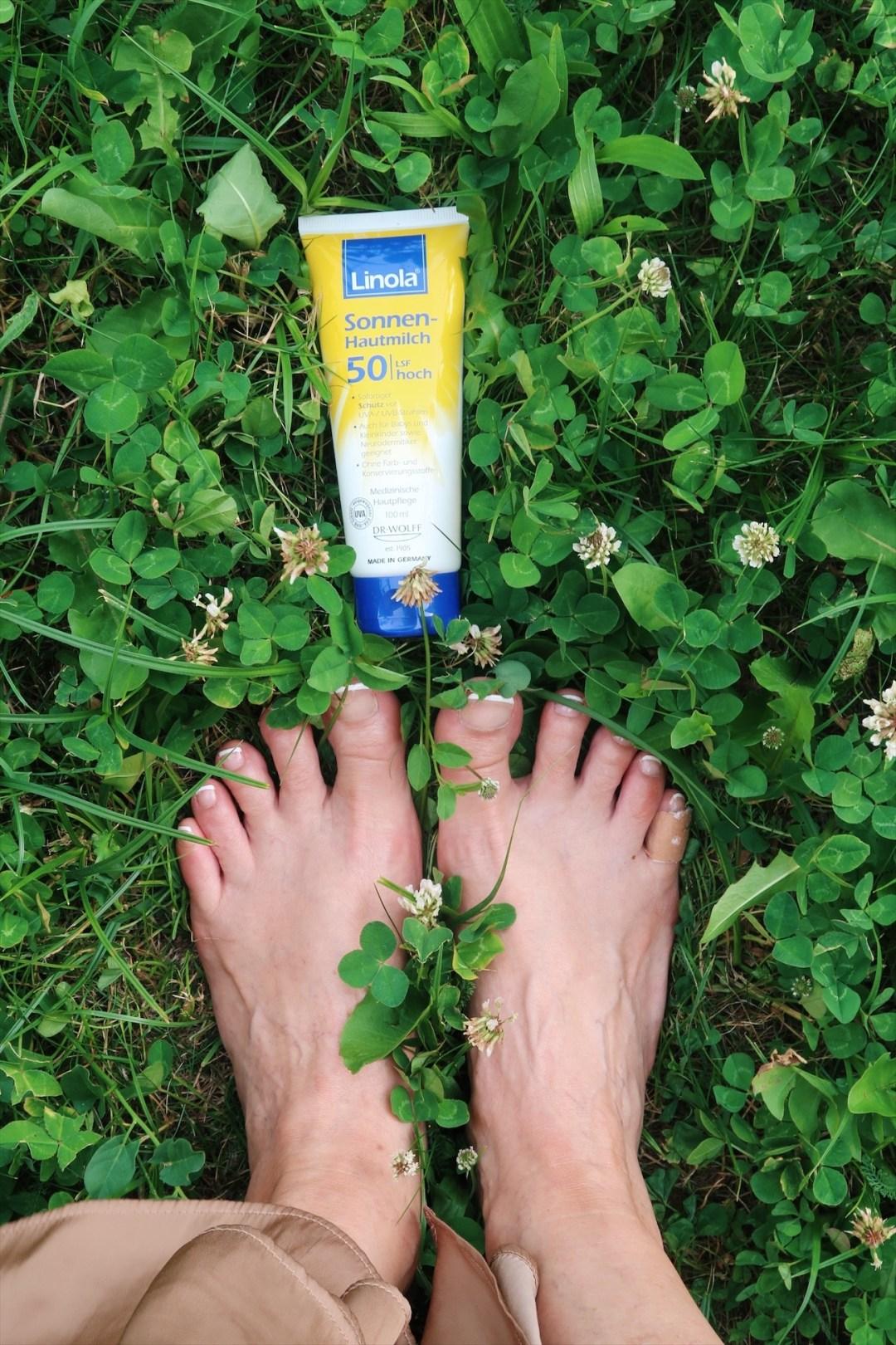 glamupyourlifestyle sonnenschutz Lichtschutzfaktor Linola-Sonnen-Hautmilch Sonnencreme braun-werden