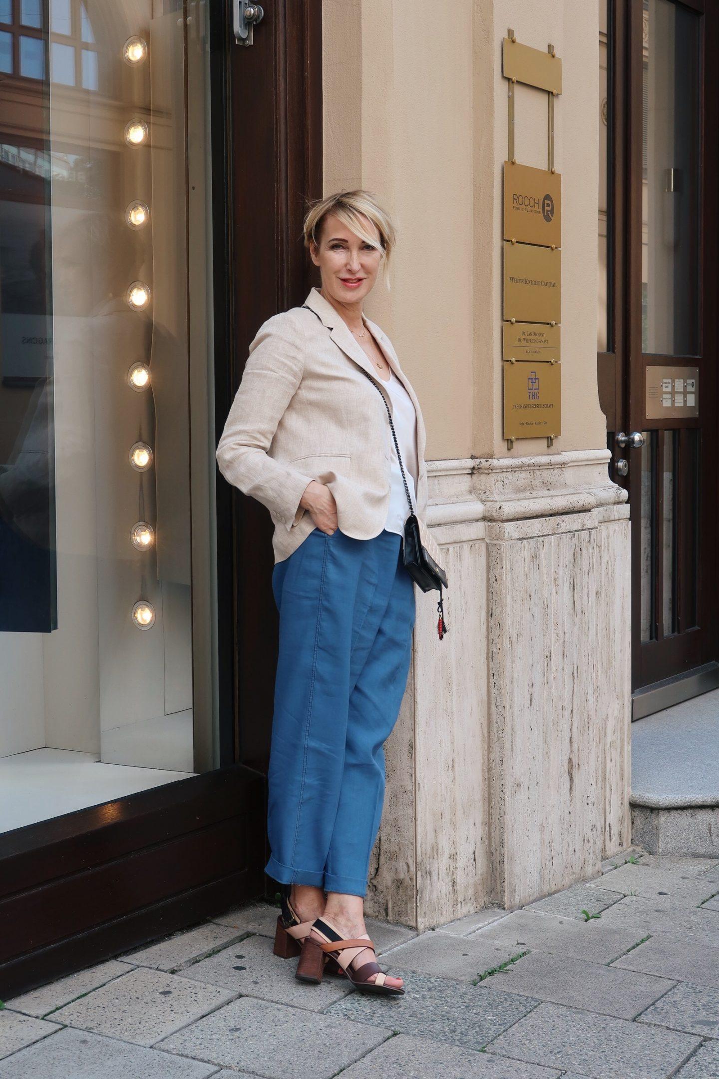 glamupyourlifestyle leinenblazer leinenjacke chanel-tasche ü-40-blog ue-40-mode ü-50-blog