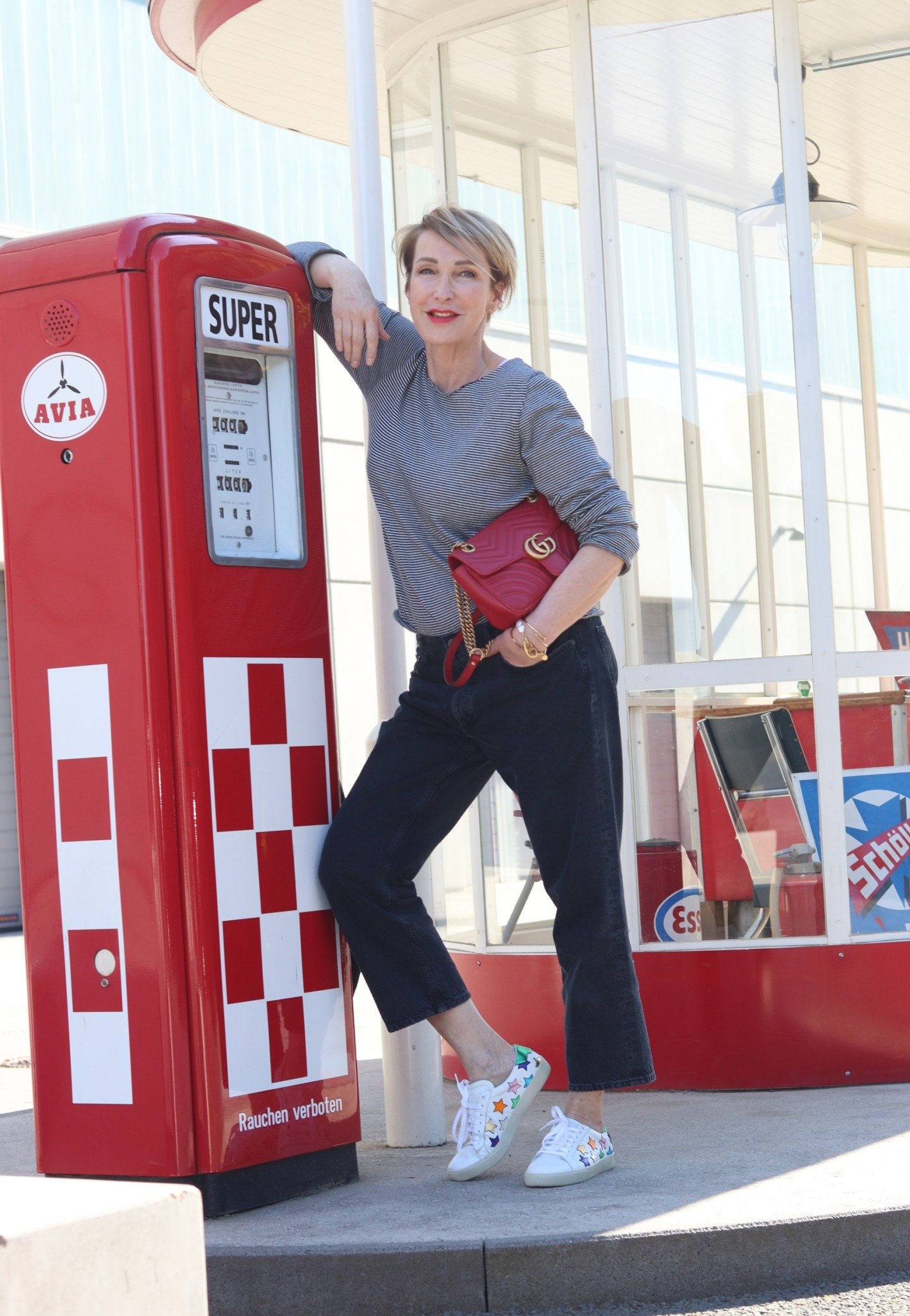 glamupyourlifestyle Ringel-Outfit gestreiftes-Shirt ue-40-mode ue-50-blog