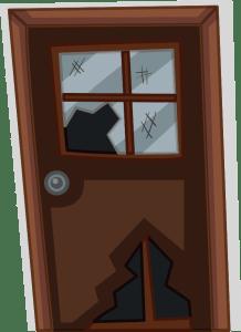 porte fenêtre cassée