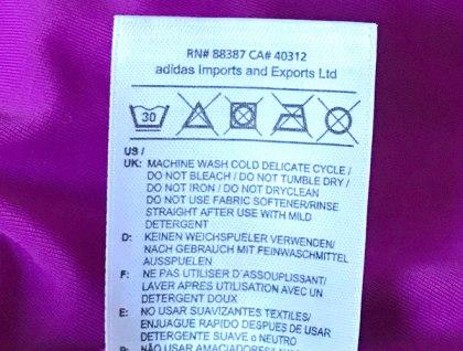 Waschetikett adidas Badeanzug