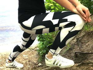Katy in Adidas Tights
