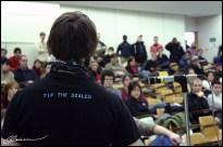 Assemblée générale de grève. (Université Laval, Canada, mars 2005.)