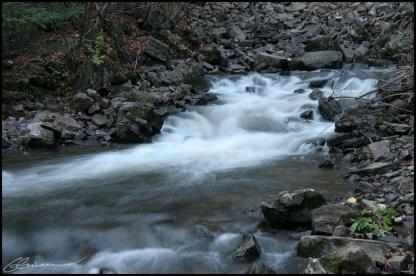 Slow water. (Montmorency, Québec, octobre 2005)