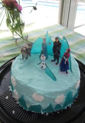 Le fameux gâteau d'anniversaire. Les étapes de confection sont dans les photos suivantes.