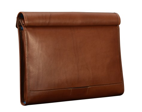 Hand-burnished-espresso-All-Leather-Flapover-Folderholder-with-california-blue-lining.2