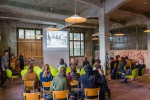Festival STADTTFINDEN - Vortrag Carolina Magnin (Foto (c) Manuel Emmelmann)