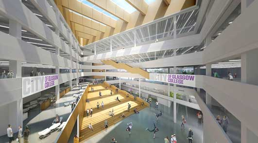 City of Glasgow College Building Design interior