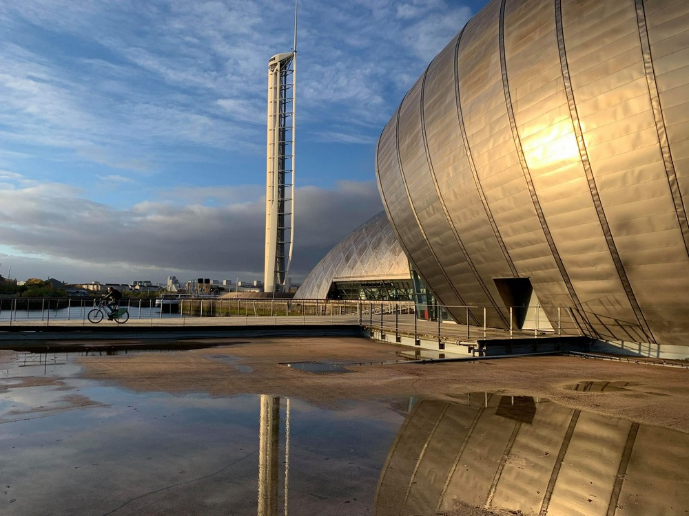 Glasgow Science Centre Imax cinema and tower