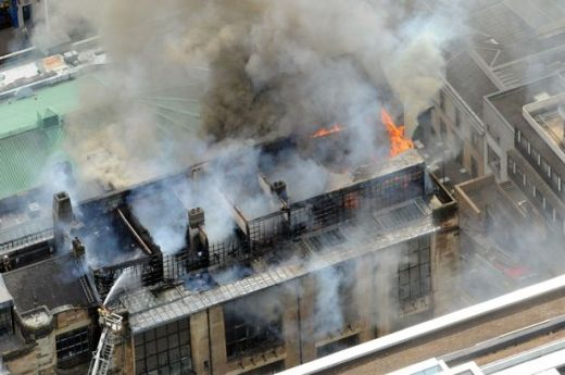 Glasgow School of Art Blaze