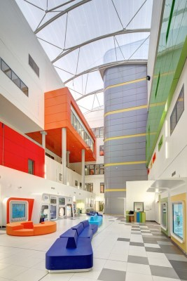 Glasgow hospital building atrium