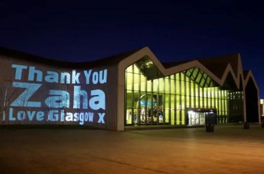Riverside Museum Zaha Hadid Glasgow Tribute