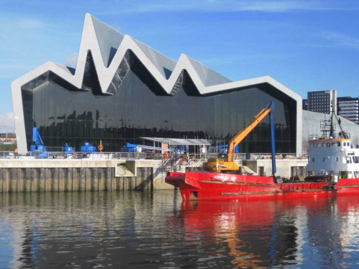 Riverside Museum building Glasgow by Zaha Hadid Architects