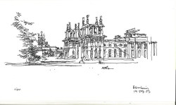 Charles MacCallum Blenheim Palace sketch