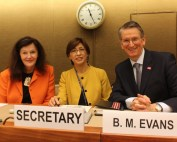 Elena Szolgayová, Gulnara Roll, Secretary to CHLM, UNECE and Professor Brian Evans