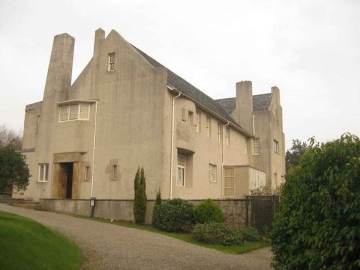 Hill House by Charles Rennie Mackintosh architect in Helensburgh