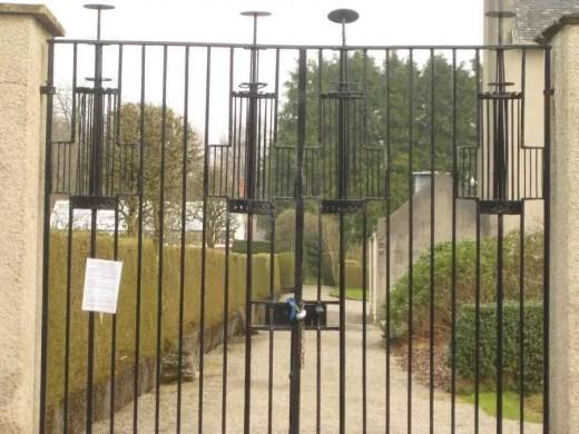 Gates of Charles Rennie Mackintosh house in Helensburgh