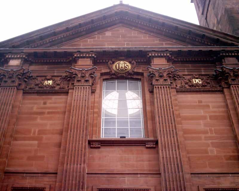 St Aloysius' Church Glasgow building facade