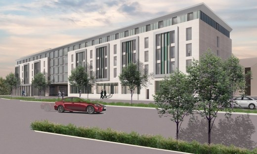 Glasgow Airport Business Park hotel building design by DMA