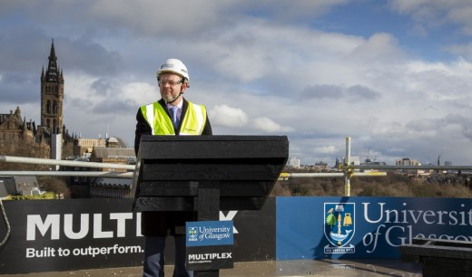 University of Glasgow New Research Hub building site