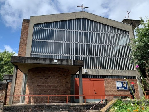 St Charles Borromeo Church in North Kelvinside gable facade