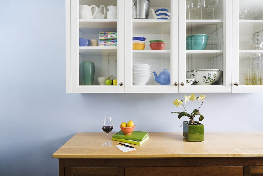 Styling Items Inside Glass Cabinets