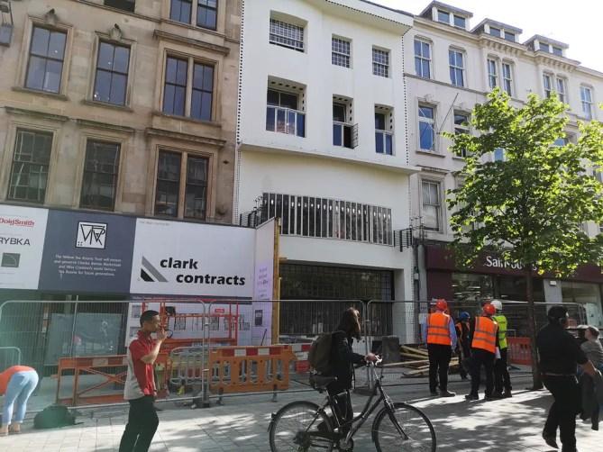 Willow Tea Rooms Glasgow building refurb