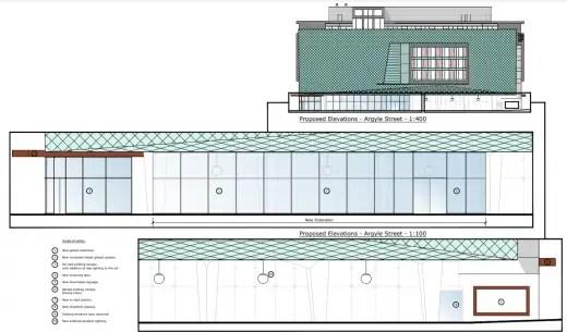 Radisson Hotel Glasgow Argyle Street proposed elevation