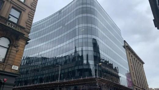 Ingram Street Offices building curtain walling