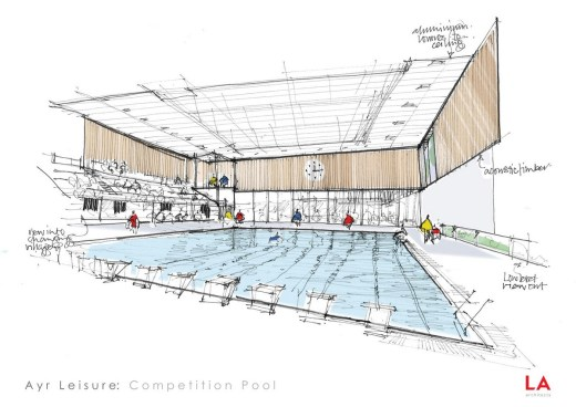 New Ayr Leisure Centre swimming pool