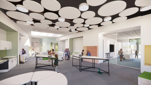 Newmains Primary and St Brigid's Primary campus and Family Learning Centre interior